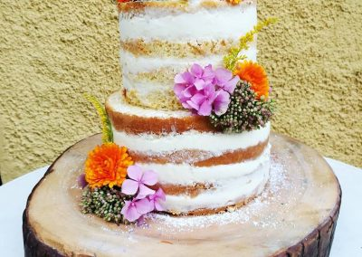Wedding Nakedcake. Joghurtwaldbeertorte